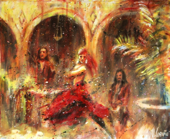 Flamenco en patio andaluz