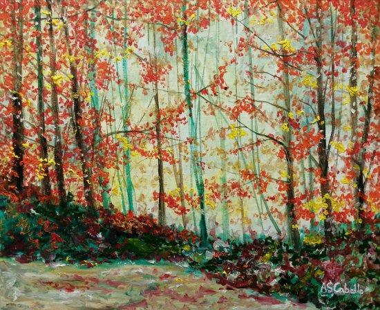 Forest landscape in autumn