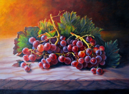 GRAPES STILL LIFE WITH MILLING