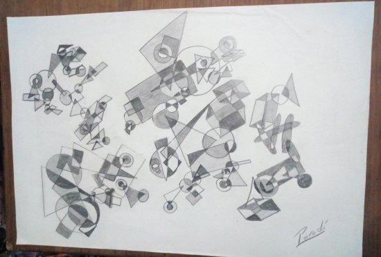 Composición del negro, gris y blanco
