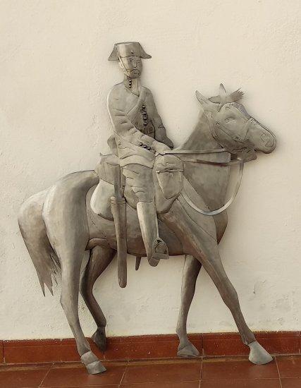 Escultura Guardia civil a caballo