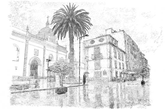 Lluvia en La Laguna