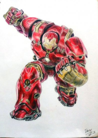 Dibujo de Hulkbuster (Iron Man) de Marvel