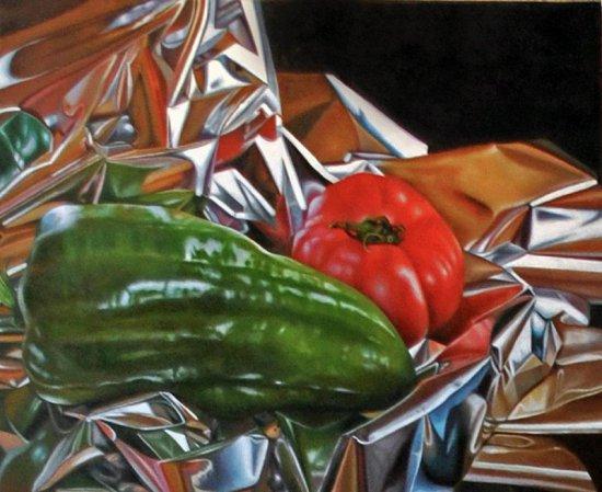 Pimiento y tomate