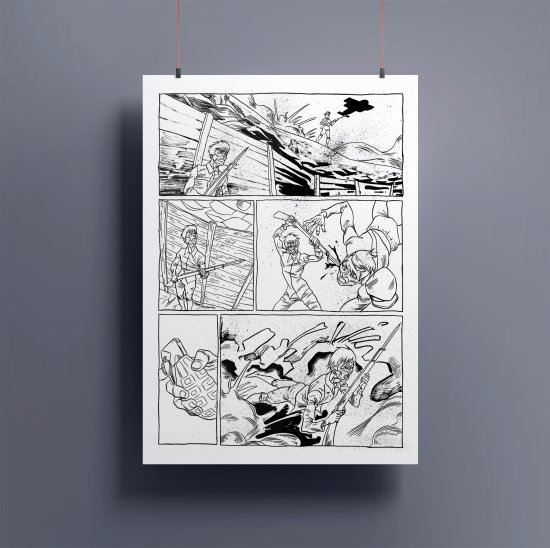 """Original page of """"Microrrelato del subsuelo"""" 3"""