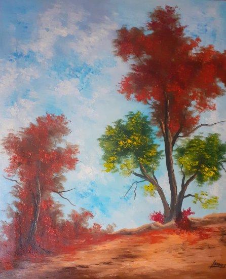Whimsical nature ... 65x54 cm