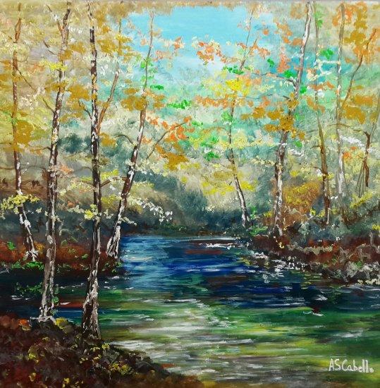 Luz en el río