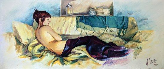 portrait at rest. Original paintings online