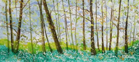 Amanecida de un bosque