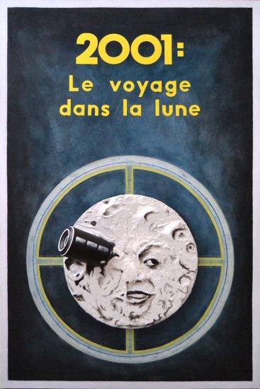Cartel collage 2001: LE VOYAGE DANS LA LUNE