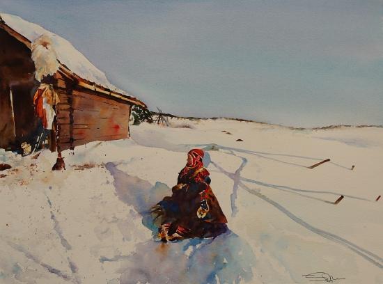 Sami. Finnmark, Noruega  48x36  2009.JPG