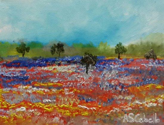 Paisajes y campos en flor