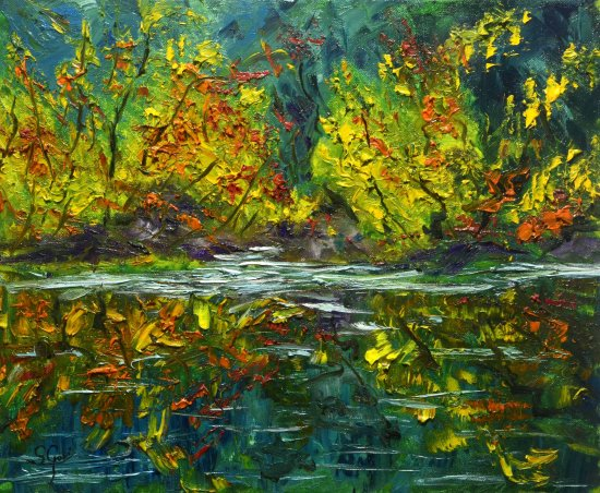Autumnal pond.
