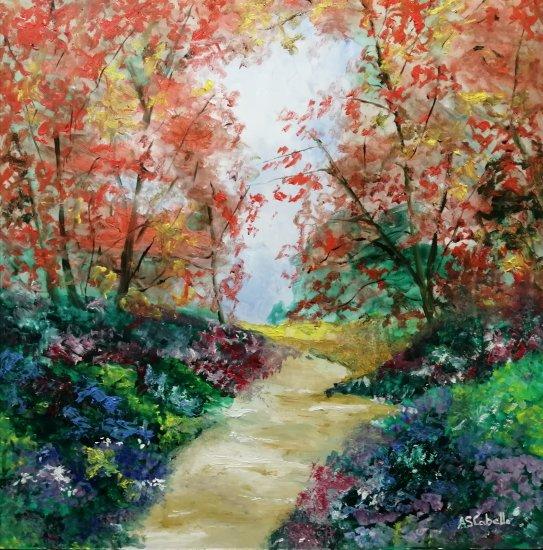 Road of flowers