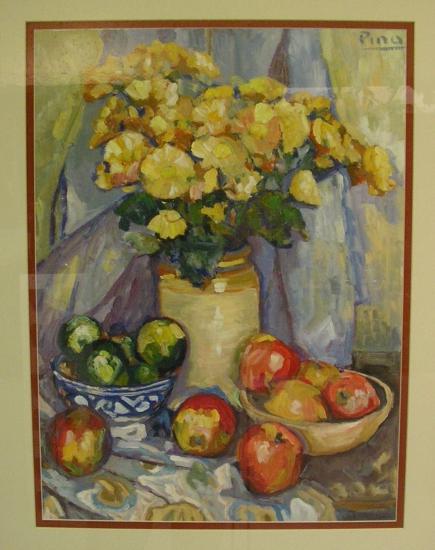Bodegón con manzanas