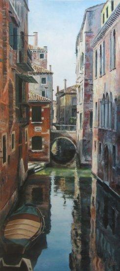 Un canal de Venecia. Cuadros modernos al óleo