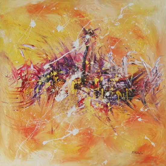 PRICE OFFER Abstract 0066 120x120 CM.