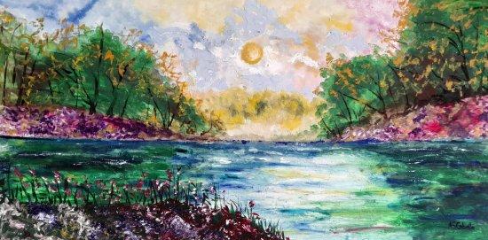 La tarde en el río
