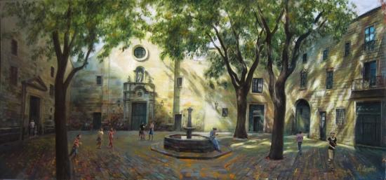 Plaza de Sant Felip Neri. Barcelona