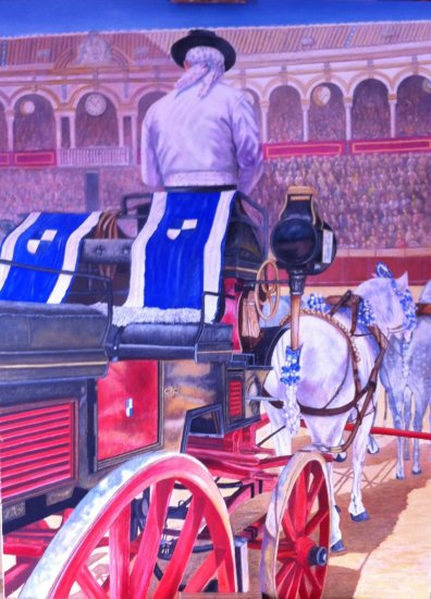 Carriage in the Maestranza. Seville