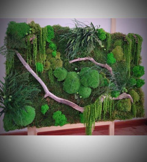 Preserved moss mural