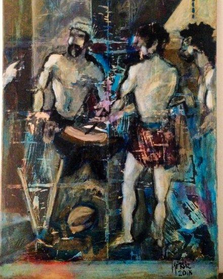 Expressionist Interpretation of La Fragua de Vulcano.
