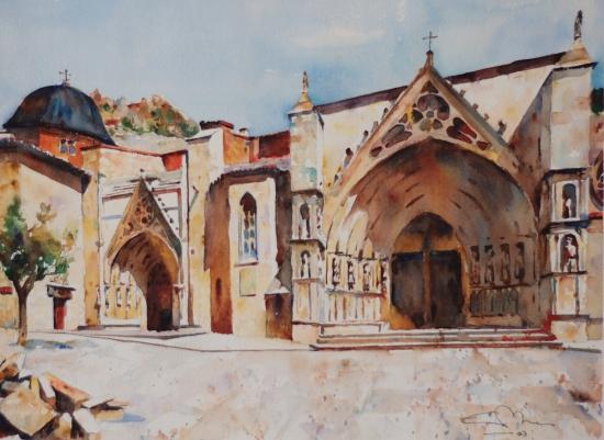 St. Mary's Basilica, Morella 28,5x21 2007.JPG