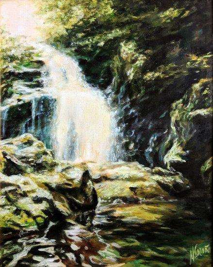 Waterfall. Navarra landscape