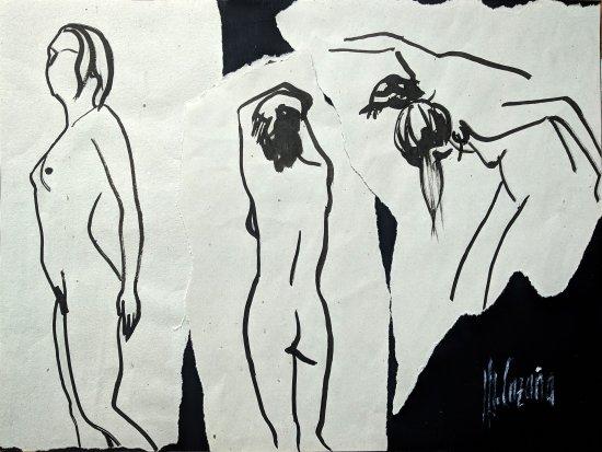 3 nude woman