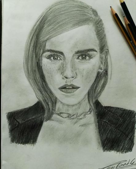 Retrato de Emma Watson