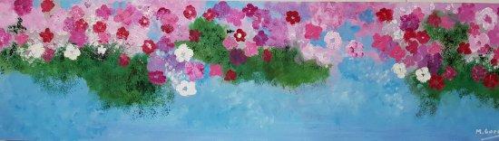 Flowers. 9 multicolor
