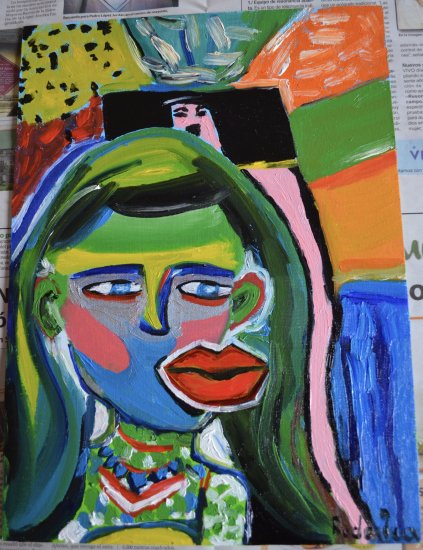 Girl with mouth