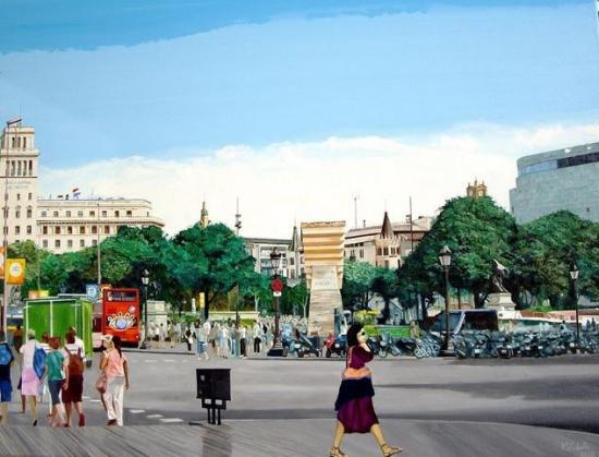 Barcelona.plaza Catalunya