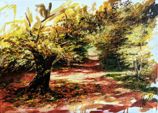 Selva de Irati. Pinturas al óleo de paisajes campestres