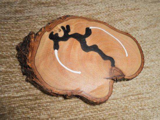 Olive wood stick 4 (incense holder)