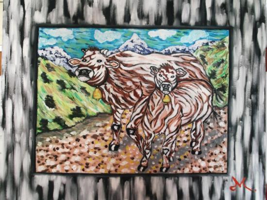 vacas pirenaicas.