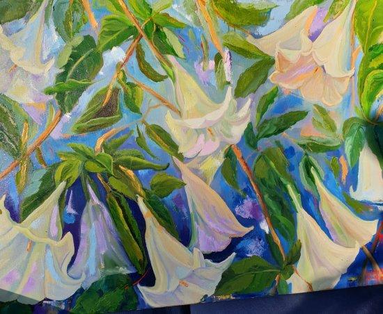 Dáturas Oil on canvas 100x70cmts