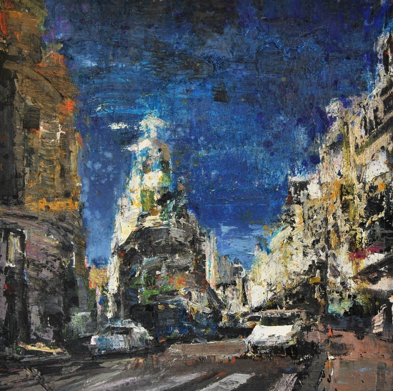 Paisaje urbano, Madrid., cuadro original, Óleo sobre Lienzo ...
