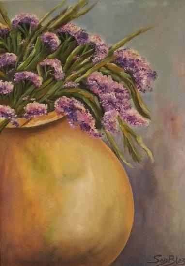 Tinajuela con flores