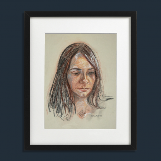 Portrait of young model