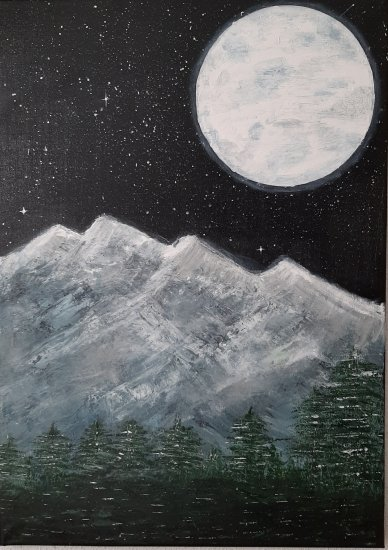 """""""Un Millón de estrellas """" , 70x50 cm, 150 euros"""