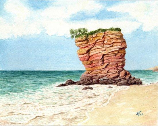 Rocas de la playa