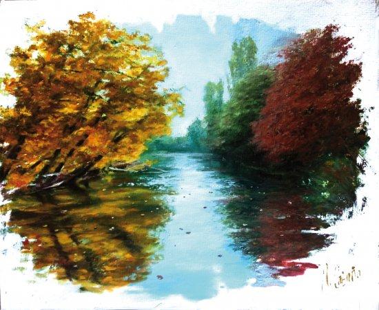 River oil paintings