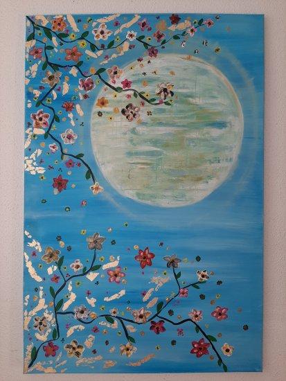 """""""Mirando el sol japonés """", 90x60 cm, Rebajas de Navidad 50%, 140 euros"""