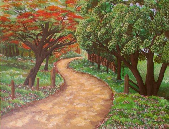 Camino entre los árboles