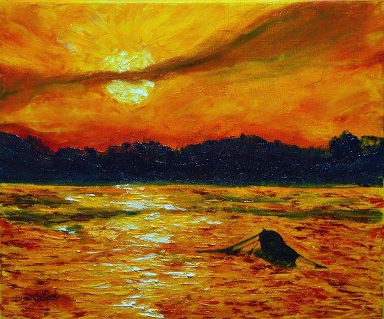 Sunset in Treto.